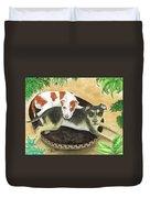 Boxer Hound Cross Dogs Plants Animals Cathy Peek Duvet Cover