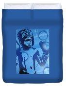 Boxer In Blue Duvet Cover