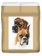 Boxers Duvet Cover by Barbara Keith