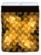 Boxes Yellow Art Duvet Cover