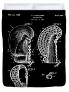 Boxing Glove Patent 1944 Black Duvet Cover