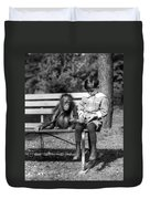 Boy And Orangutan Duvet Cover