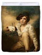 Boy And Rabbit Duvet Cover by Sir Henry Raeburn