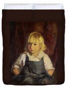 Boy In Blue Overalls Duvet Cover by Robert Henri