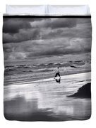 Boy On Shoreline Duvet Cover