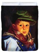 Boy With A Green Cap Also Known As Chico 1922 Duvet Cover