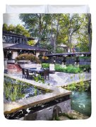 Boynton House Oil Painting Duvet Cover