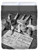 Boys Reading Newspaper Comics, C.1950s Duvet Cover