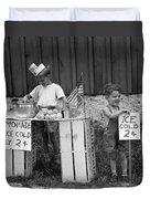 Boys Selling Lemonade, C.1940s Duvet Cover