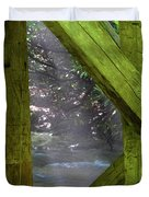 Braced With Moss Duvet Cover