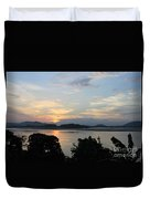 Brahmaputra Sunset Duvet Cover