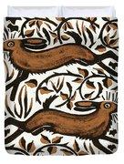 Bramble Hares Duvet Cover