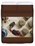 Bran Muffins With Mulberry Jam Duvet Cover