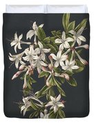 Branch Of A Flowering Azalea, M. De Gijselaar, 1831 Duvet Cover
