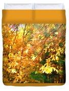 Branch Of Autumn Leaves Duvet Cover