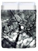 Branch With Seed Pods Duvet Cover