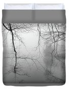 Branches In The Morning Mist Duvet Cover