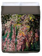 Branches Of A Tree With Colorful Leaves Shining In The Sunlight Duvet Cover