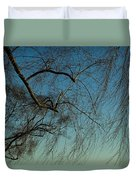Branches Of A Weeping Willow Tree Duvet Cover