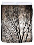 Branches Silhouettes Mono Tone Duvet Cover
