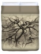 Branching Out In Autumn Antique Duvet Cover