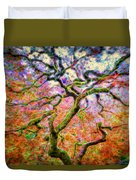 Branching Out In Autumn Neon Duvet Cover