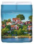 Brandaholm Cottages Duvet Cover
