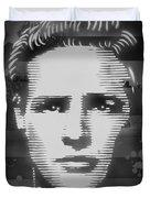 Brando Odyssey Black And White Duvet Cover