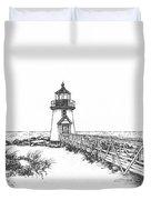 Brant Point Lighthouse Duvet Cover