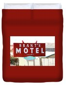 Brants Motel Sign Barstow Duvet Cover