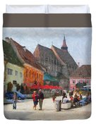 Brasov Council Square Duvet Cover