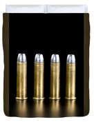 Brass And Lead Bullets. Duvet Cover