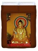 Brass Buddha Emei Duvet Cover