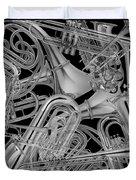 Brass Instruments Bw Duvet Cover