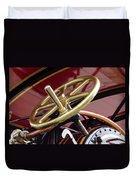 Brass Steering Wheel Duvet Cover