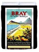 Bray, Ireland, Coast, Scenery Duvet Cover
