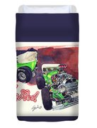 Brazilian Hot Rod V8 Duvet Cover