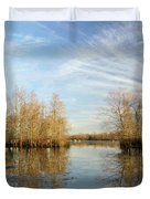 Brazos Bend Winter Reflections Duvet Cover
