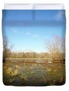 Brazos Bend Winter Wetland Duvet Cover