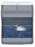 Breaching Whale Paint Duvet Cover