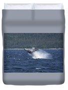 Breaching Whale. Duvet Cover