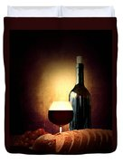 Bread And Wine Duvet Cover by Lourry Legarde