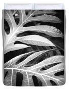 Breadfruit Tree Leaves Duvet Cover