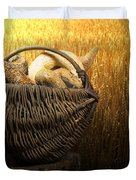 Breads And Wheat Cereal Crops Duvet Cover