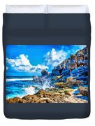 Breakers On The Rocks At Kenridgeview - On - Sea L B Duvet Cover