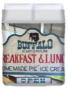 Breakfast And Lunch Duvet Cover