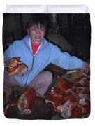 Breakfast In China Duvet Cover