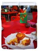 Breakfast In Portugal Duvet Cover
