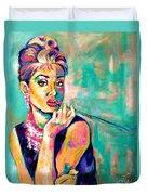 Audrey Hepburn Painting, Breakfast At Tiffany's Duvet Cover
