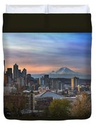 Breaking Dawn In Seattle Duvet Cover